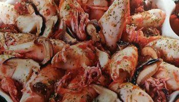 calamars farcis aux champignons