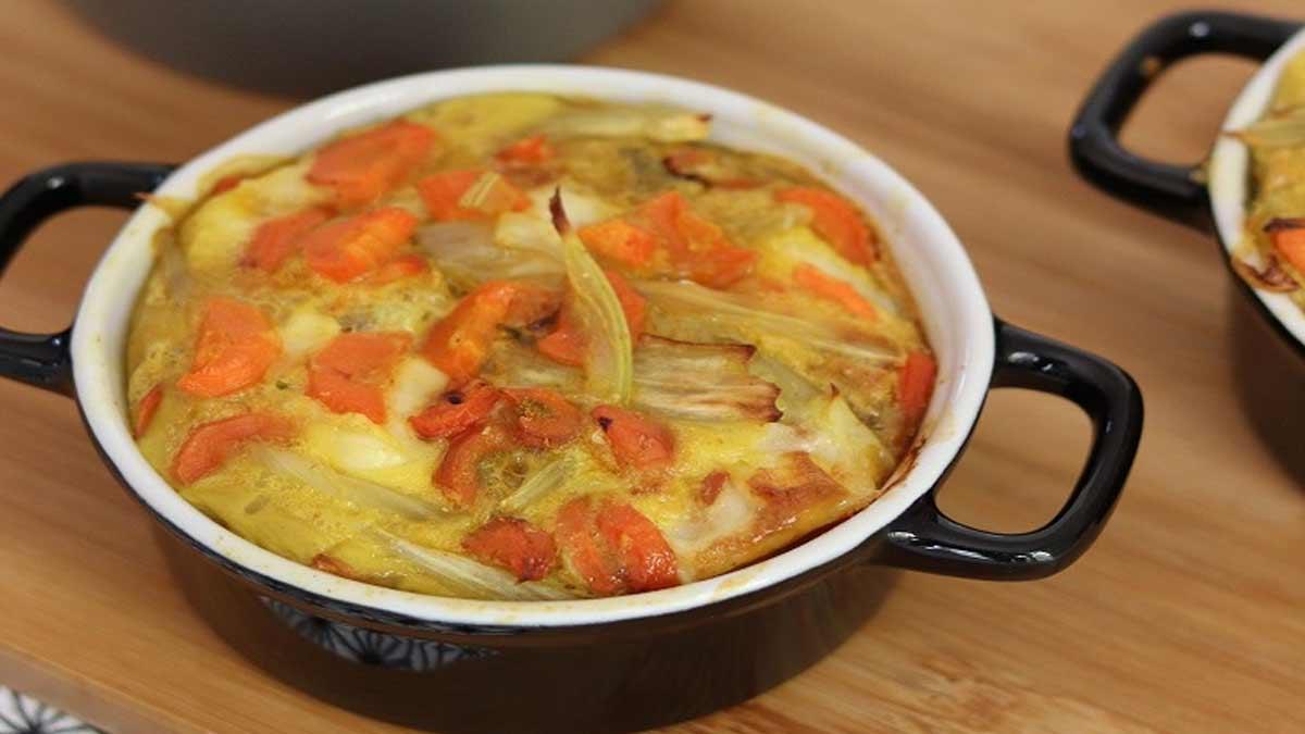 gratin fenouil aux carottes curry