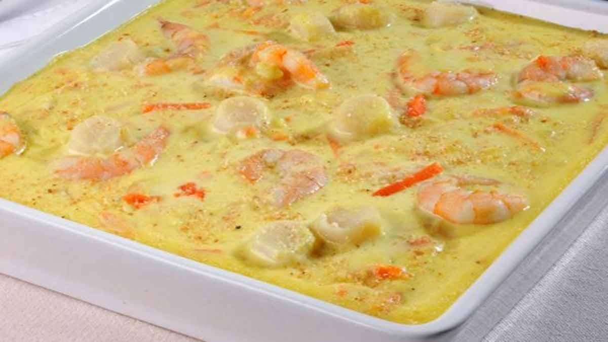 noix de Saint-Jacques et crevettes au curry