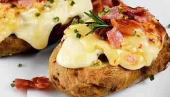pommes de terre farcies bacon et fromage