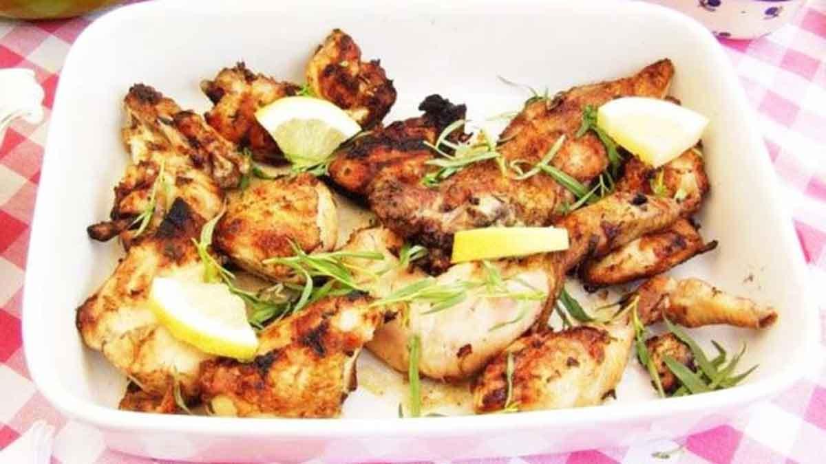 poulet mariné avec estragon