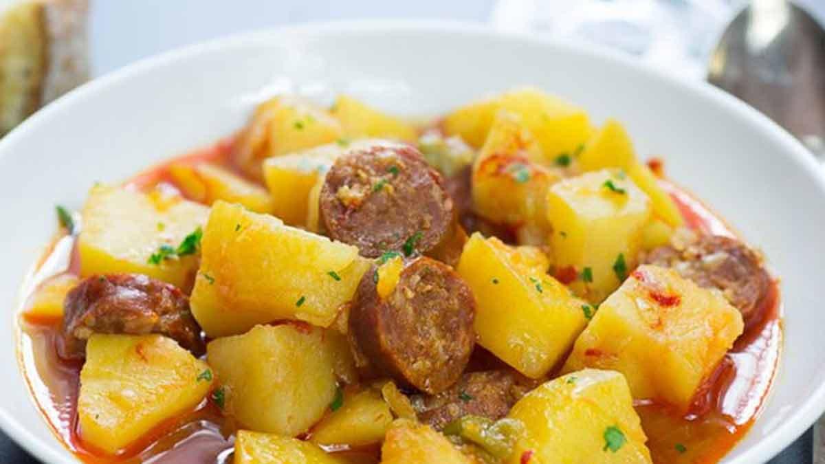 ragoût de pomme de terre et Chorizo