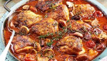 recette italienne de poulet à la sauce tomate