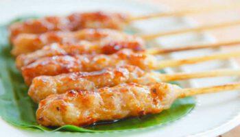 sublime satay de volaille à la sauce cacahuète et au riz basmati