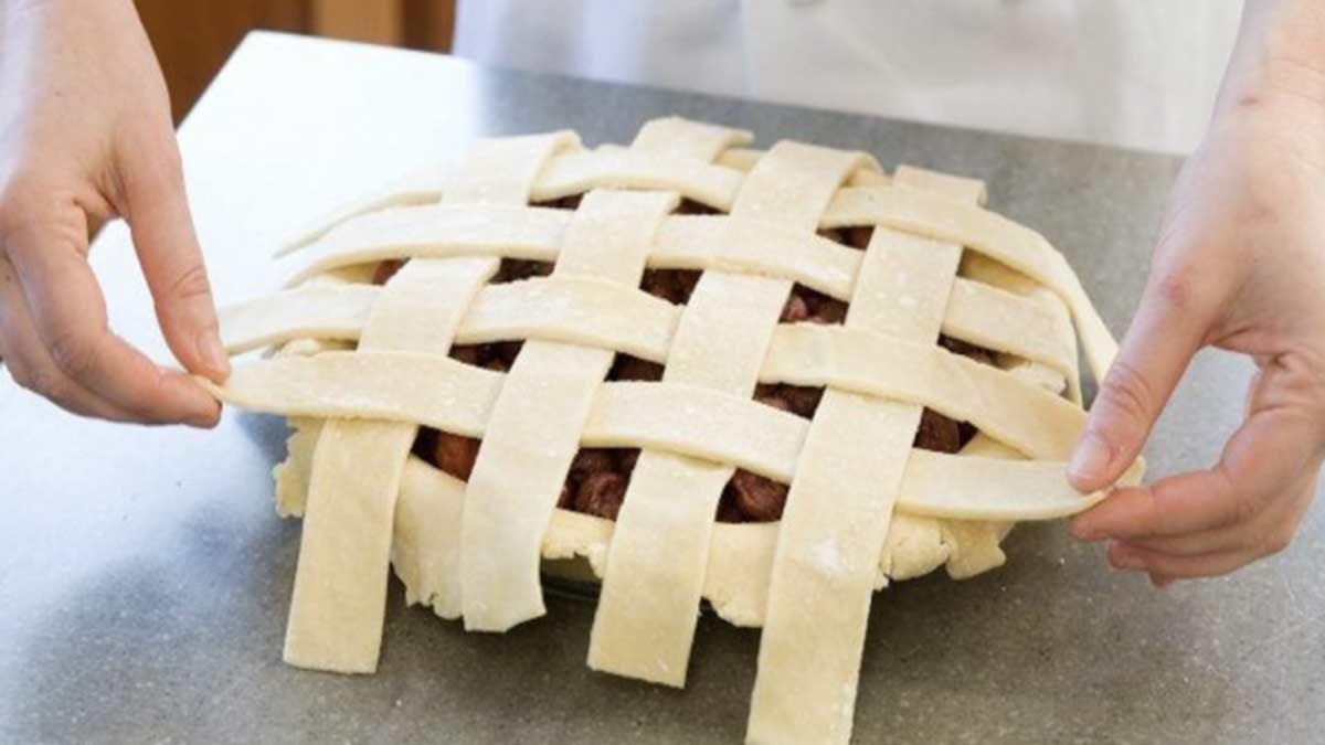 Dessus en treillis parfait pour tartes