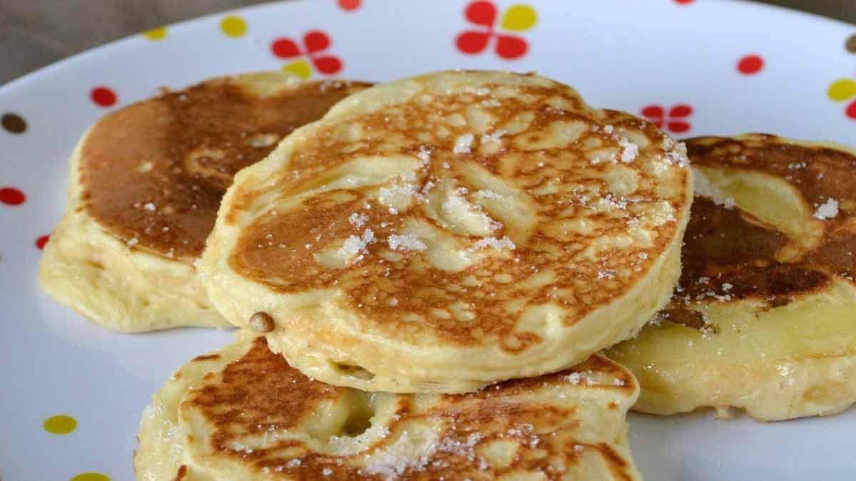 Doux pancakes aux pommes