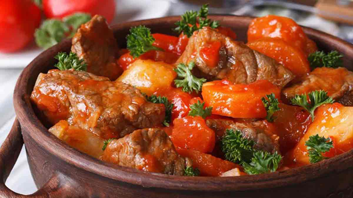 Exquis mijoté de bœuf carottes sauce tomate