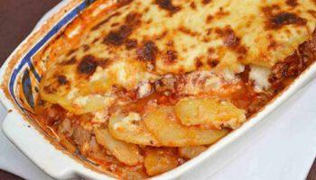 Lasagnes pommes de terre viande hachée