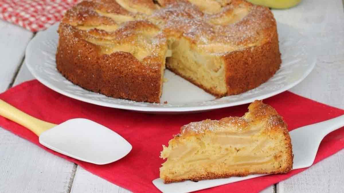 Léger gâteau aux pommes sans beurre