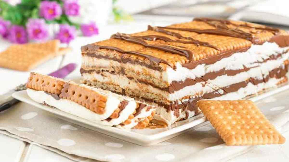 Lingot de biscuits au mascarpone et Nutella