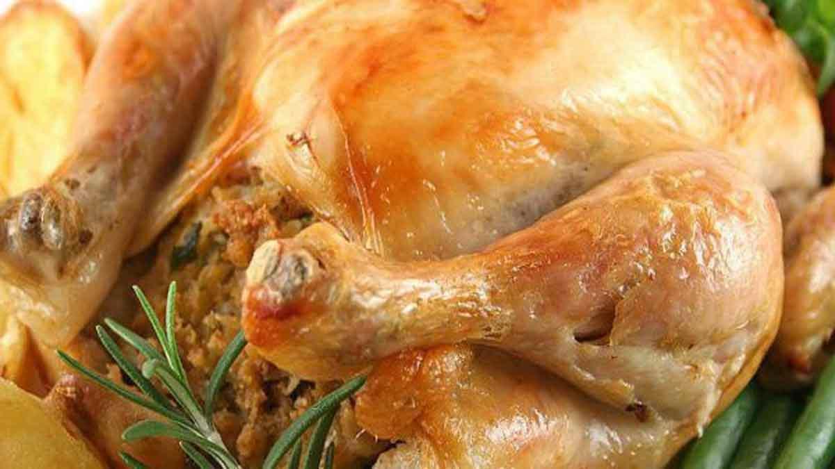Onctueux poulets rôtis cuits au four