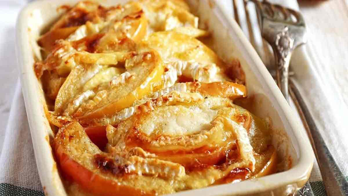 Original gratin pommes pommes de terre et camembert