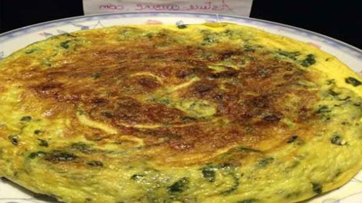 Savoureuse omelette aux épinards simple et légère