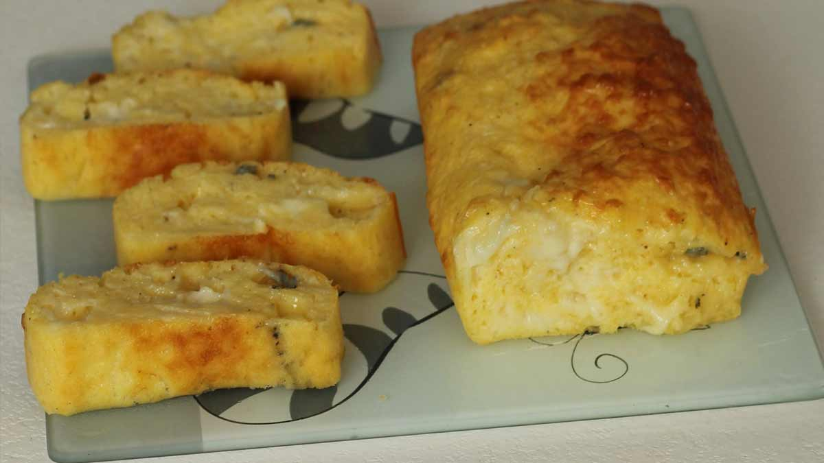Savoureux cake aux 3 fromages