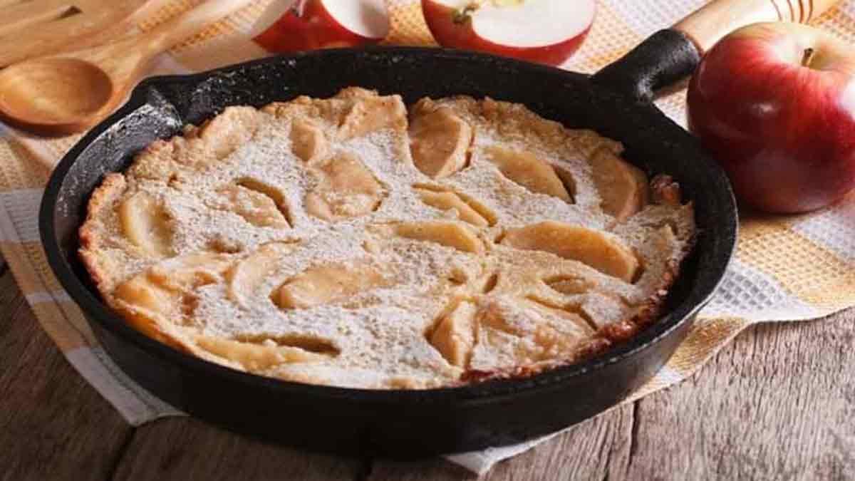 Sublime tarte aux pommes poêlée
