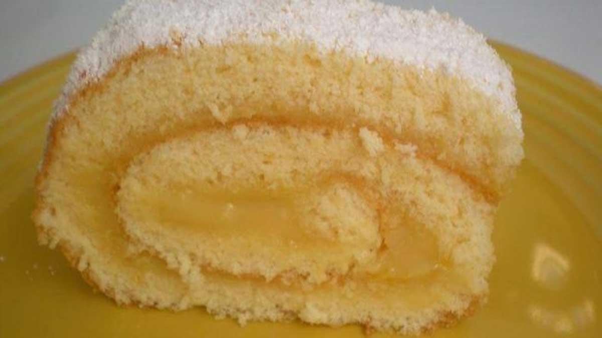 biscuit roulé à la crème au citron