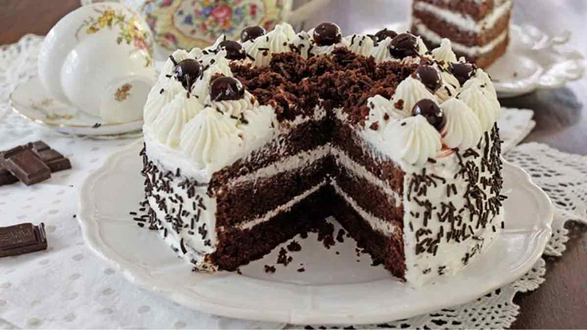 gâteau forêt noire génoise