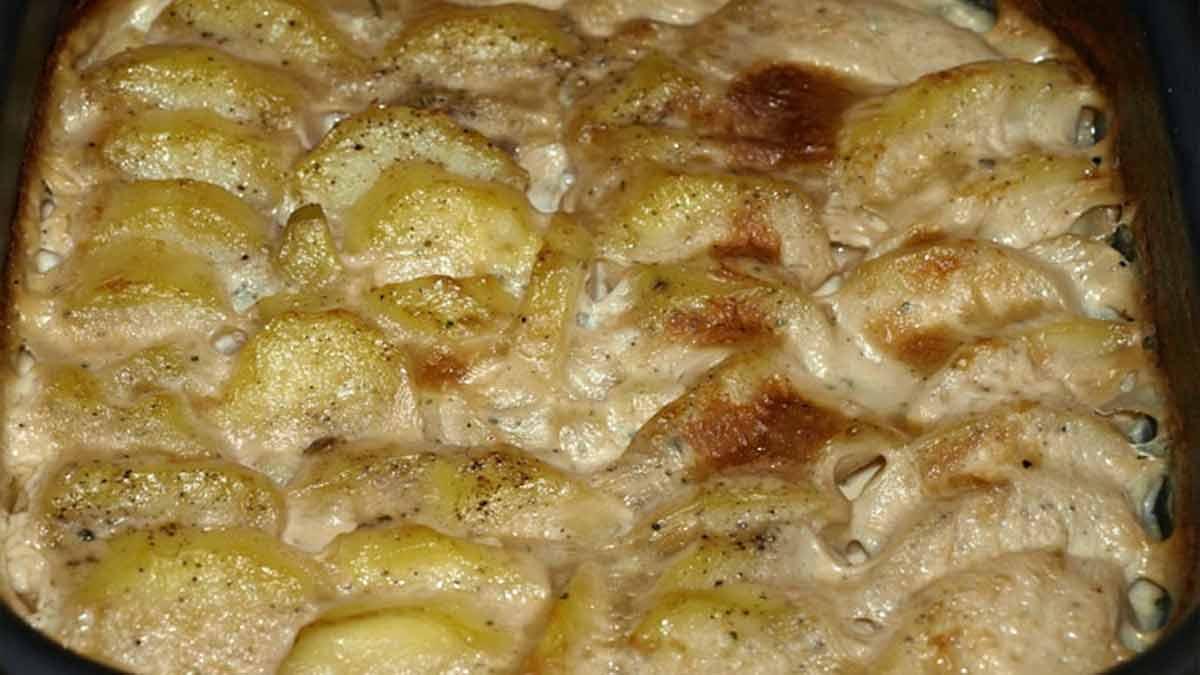 Onctueux gratin de pommes de terre façon italienne