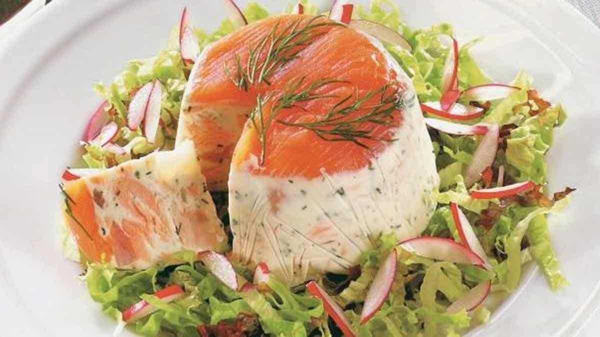 terrine au saumon et aux crevettes