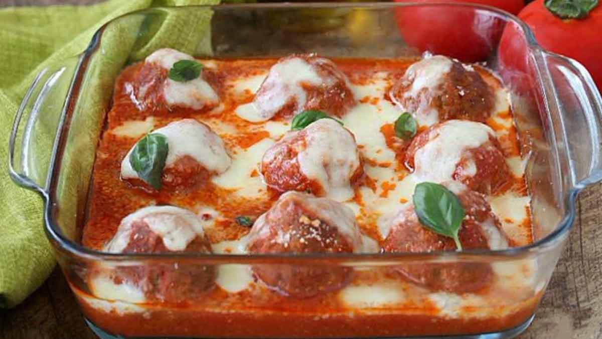 Alléchantes boulettes de viande-tomate-mozzarella