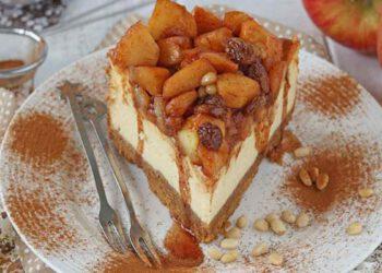 Cheesecake strudel aux pommes et aux raisins secs