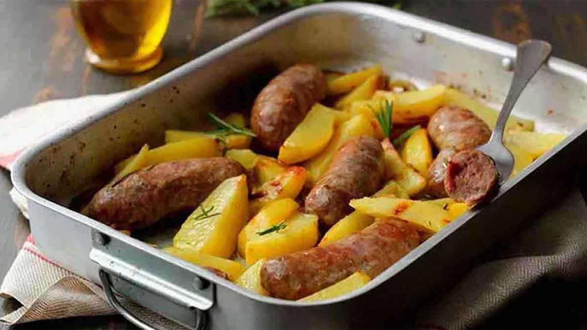 Exquises pommes de terre et saucisses classique