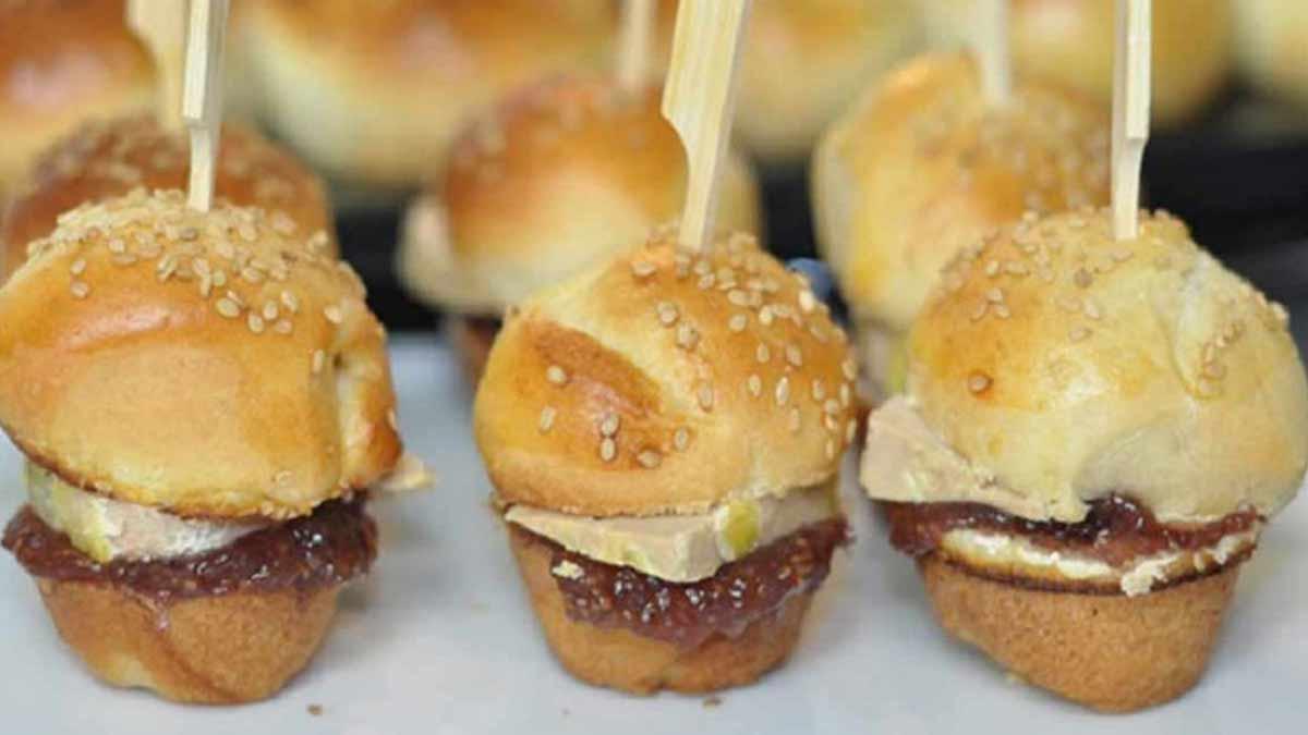 Mini burgers maison foie gras et figues