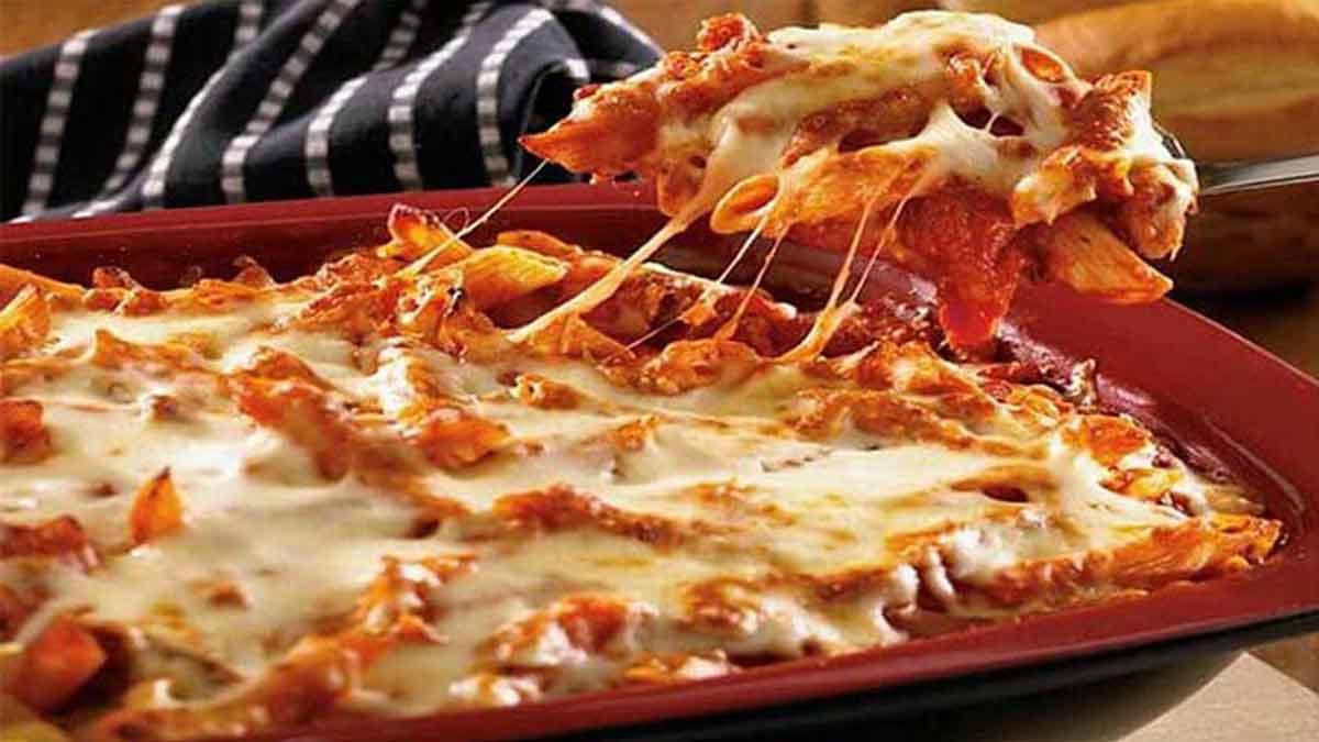 Pennes gratinées sauce tomate et aux 3 fromages