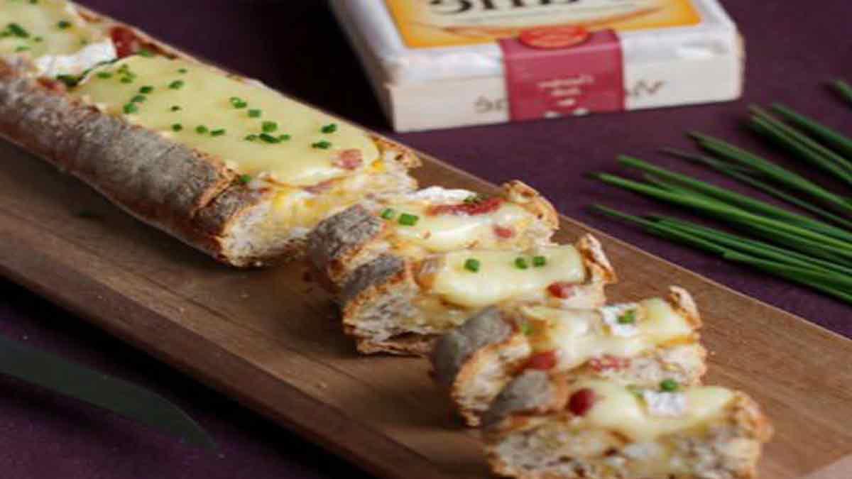 Simplissime baguette au fromage