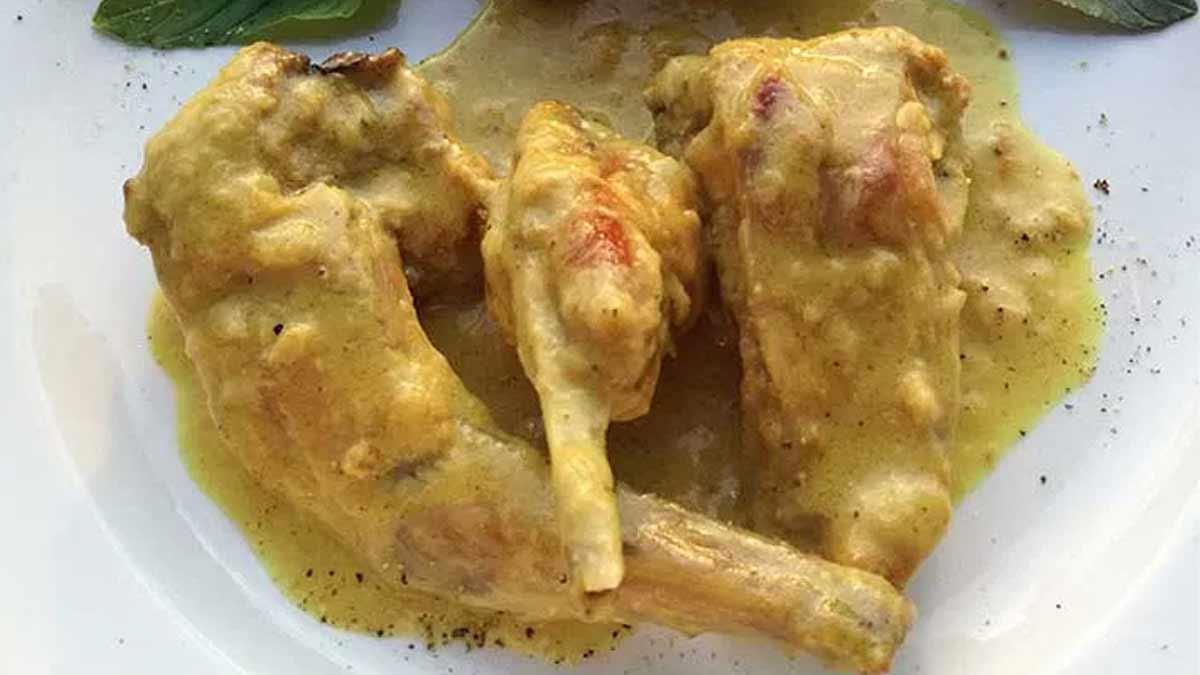 Succulent lapin sauce moutarde