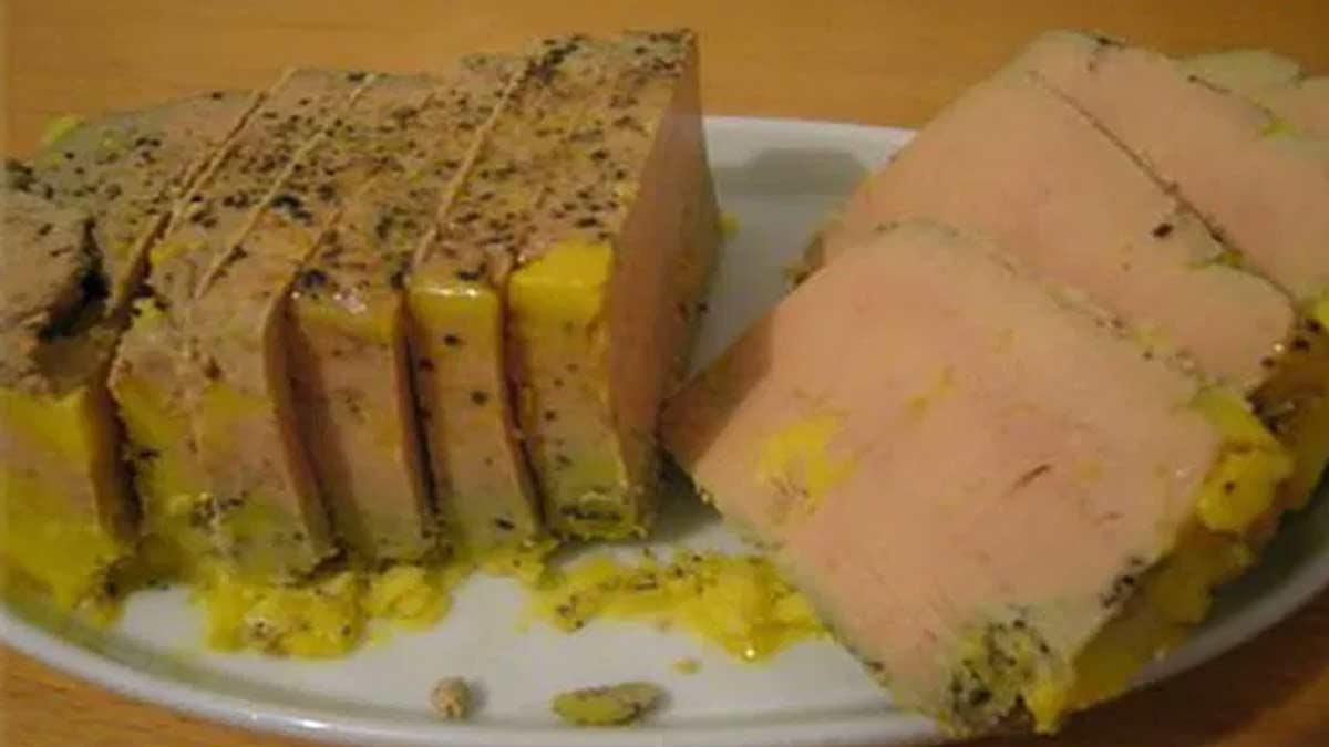 foie gras préparé en terrine