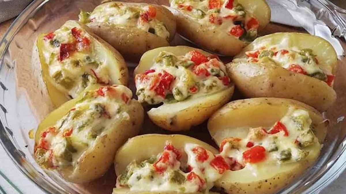pommes de terre farcies de salade