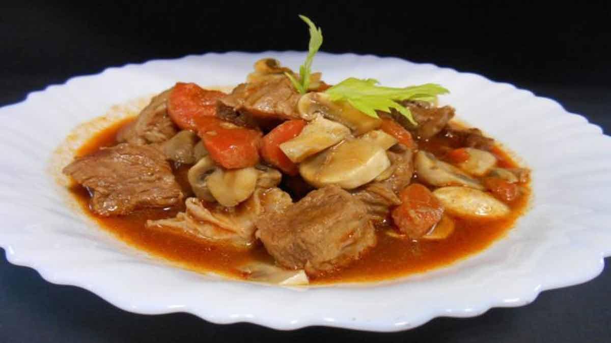 Authentique plat de veau marengo tellement bon