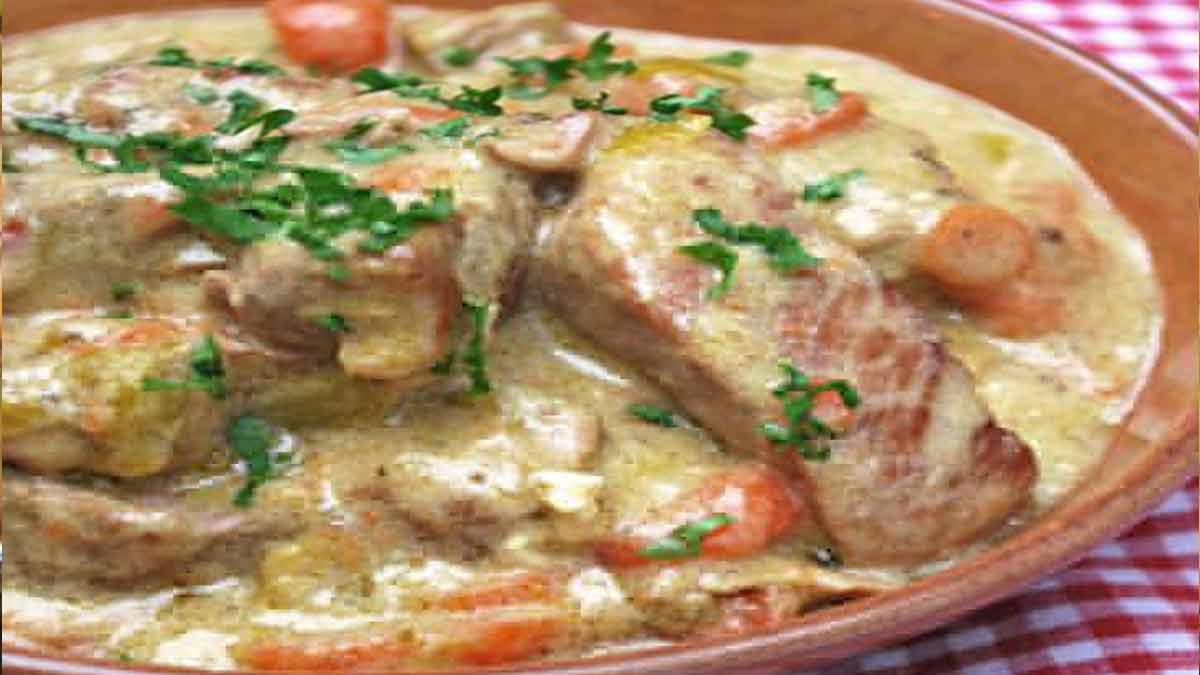 Blanquette de porc au vin blanc