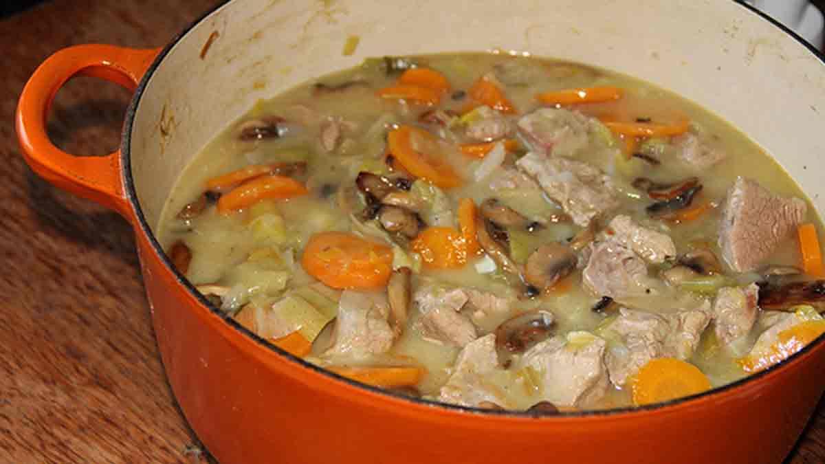 Blanquette de veau poireaux et carottes
