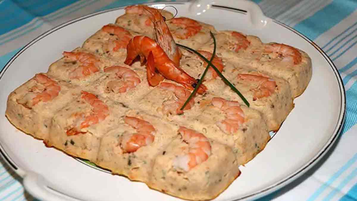Délicate terrine de saumon aux crevettes