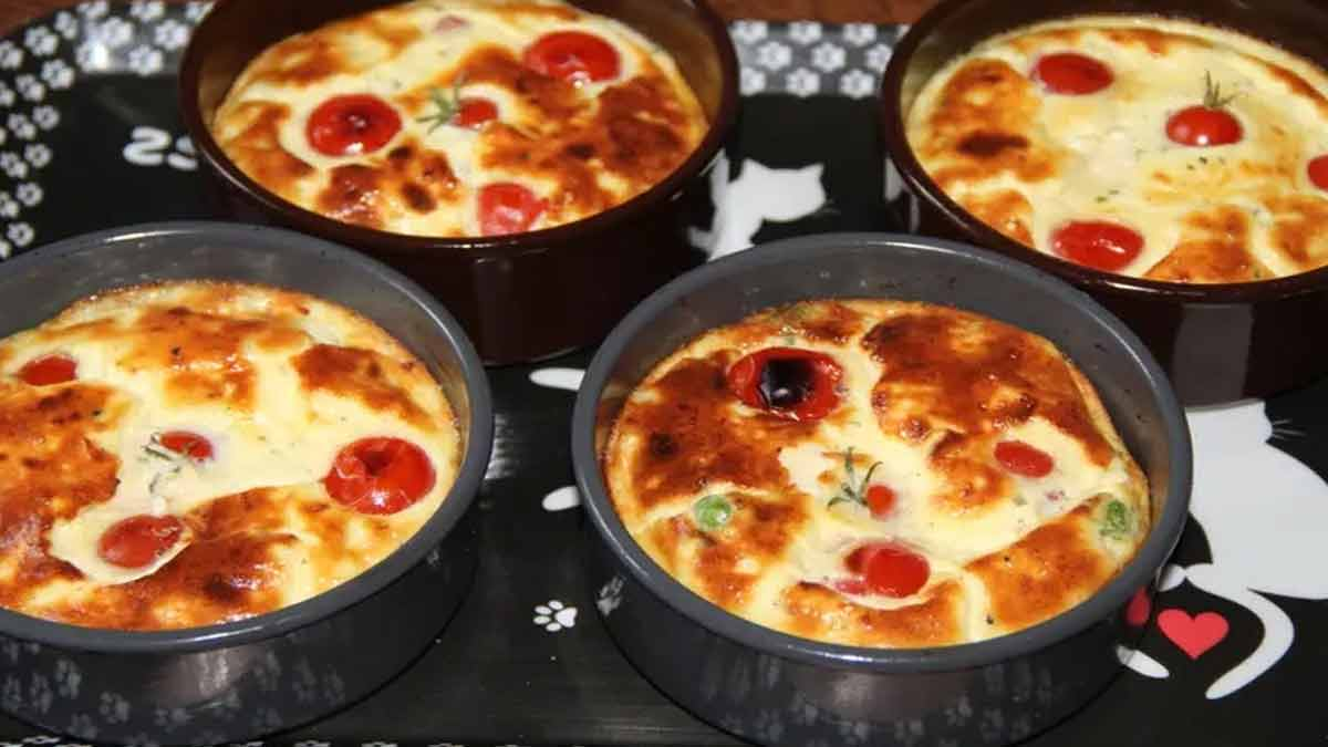 Délicieux mini-clafoutis aux petits pois-Boursin-jambon