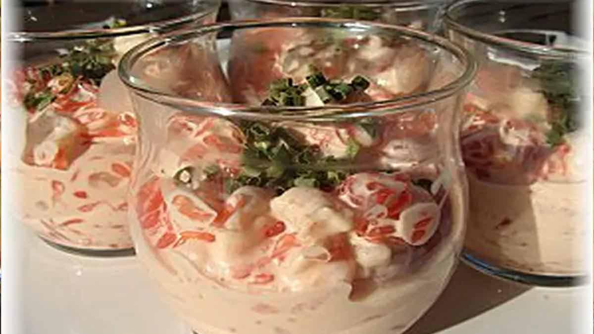 Exotiques verrines de crevettes pamplemousse cocktail