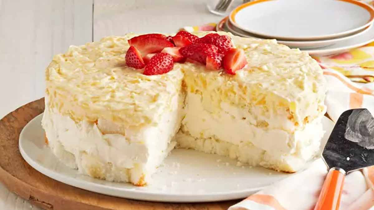 Exquis gâteau froid au fromage et ananas