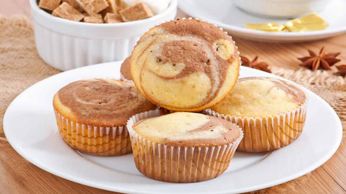 Exquis muffins marbrés