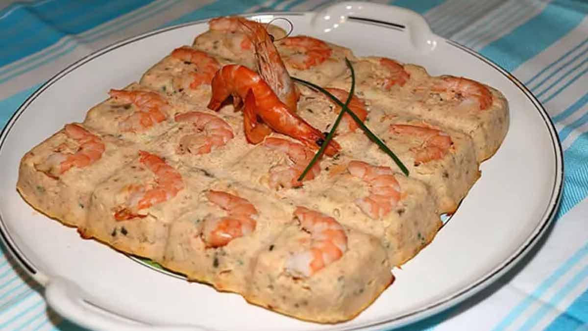 Exquise terrine de saumon aux crevettes