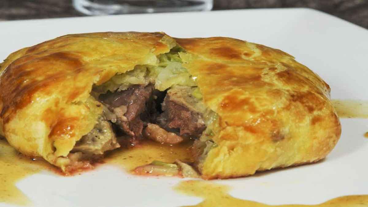 Feuilletés de pigeon chou et foie gras
