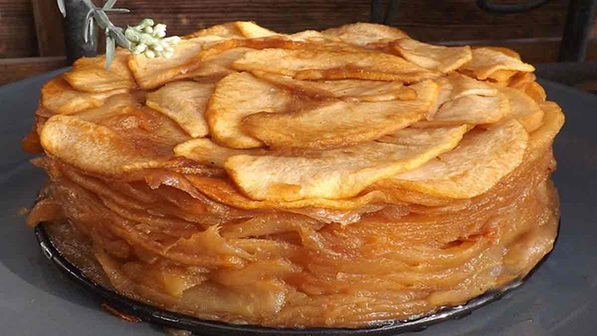Gâteau confit aux pommes sans farine