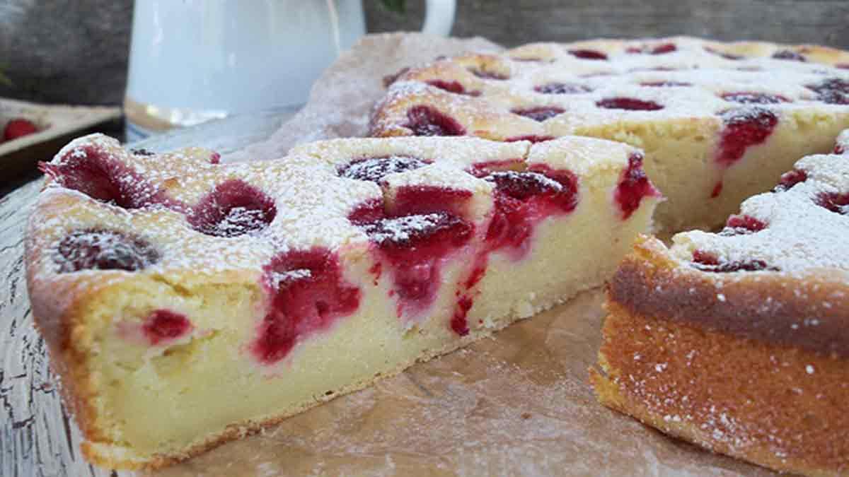 Merveilleux gâteau à la ricotta chocolat blanc et framboises