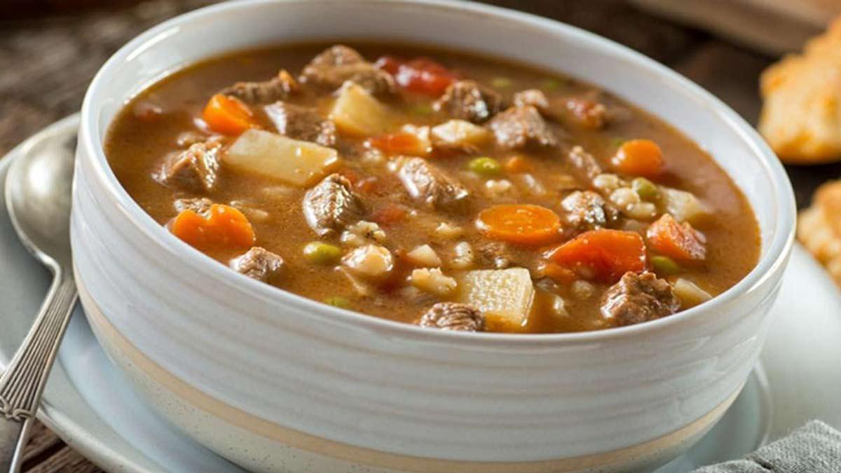 Onctueuse soupe bœuf et orge