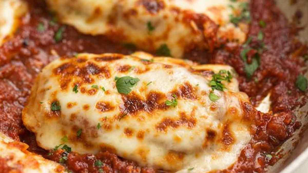 Poulet mozzarella à la sauce tomate