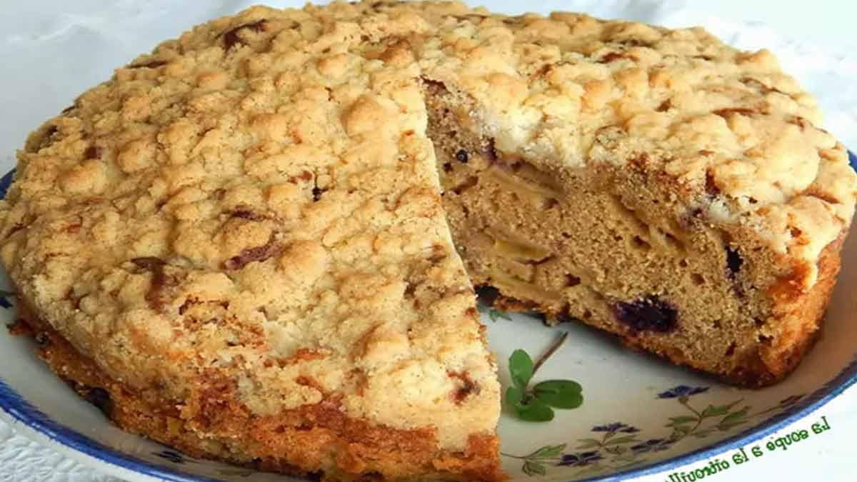 Sublime gâteau crumble aux pommes irlandais
