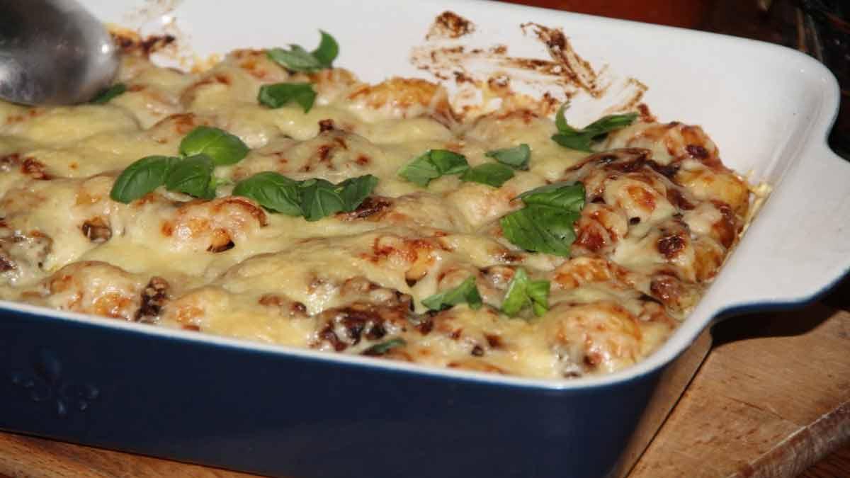 Succulent gratin de gnocchis frais
