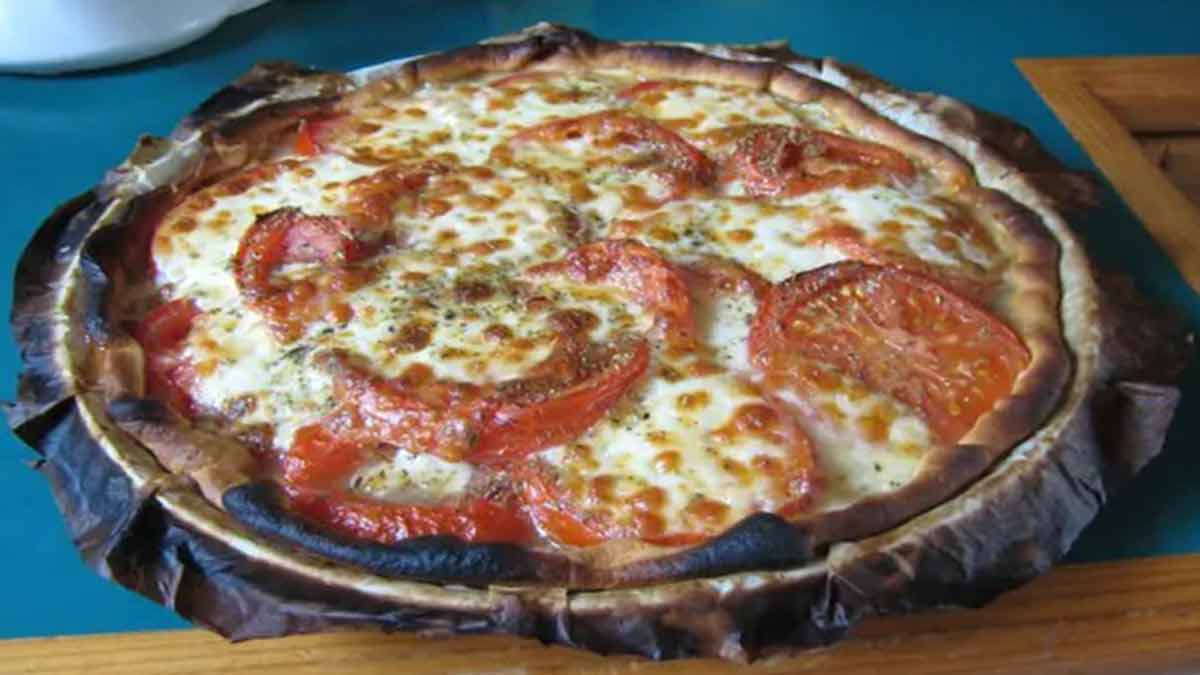 Succulente tarte tomates mozzarella oignons