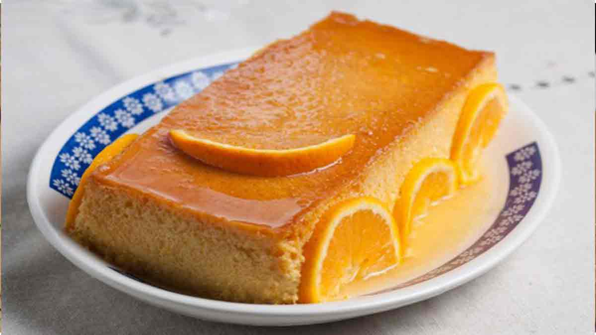 alléchant flan saveur orange